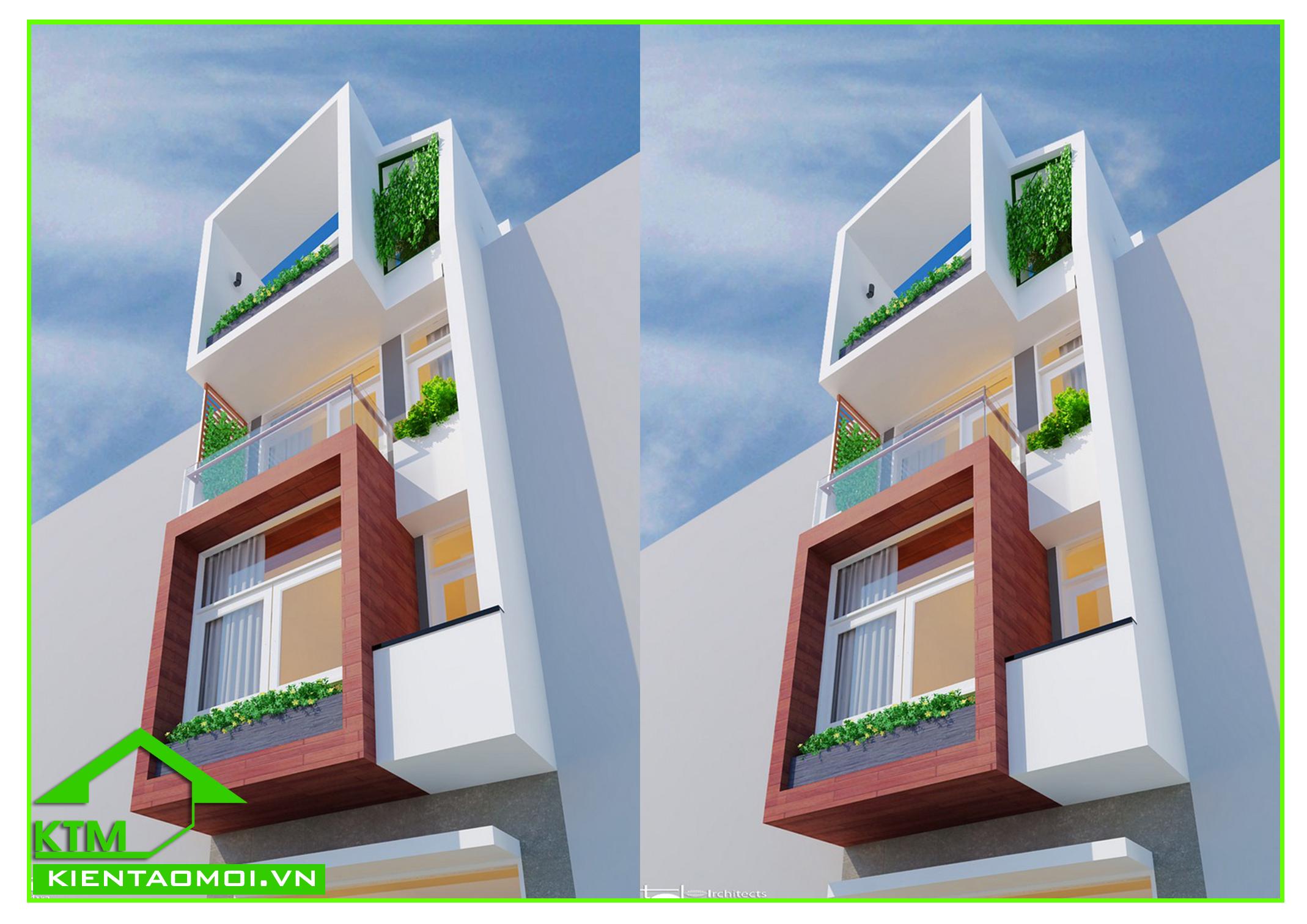 Thiết kế nội ngoại thất nhà phố hiện đại anh Trọng