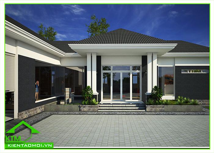 Thiết kế biệt thự vườn, nhà cấp 4 mái bánh ú tại Bảo Lộc, Lâm Đồng